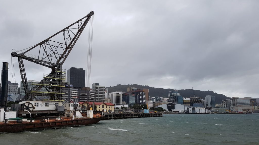 Wellington from the waterfront on a bitterly cold midwinter day