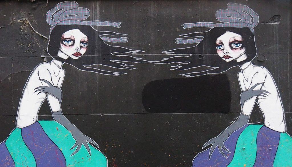 Wall mural by Jodee Knowles in Racing Club Lane.