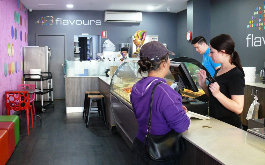 The heart of the gelato action at 48 Flavours.