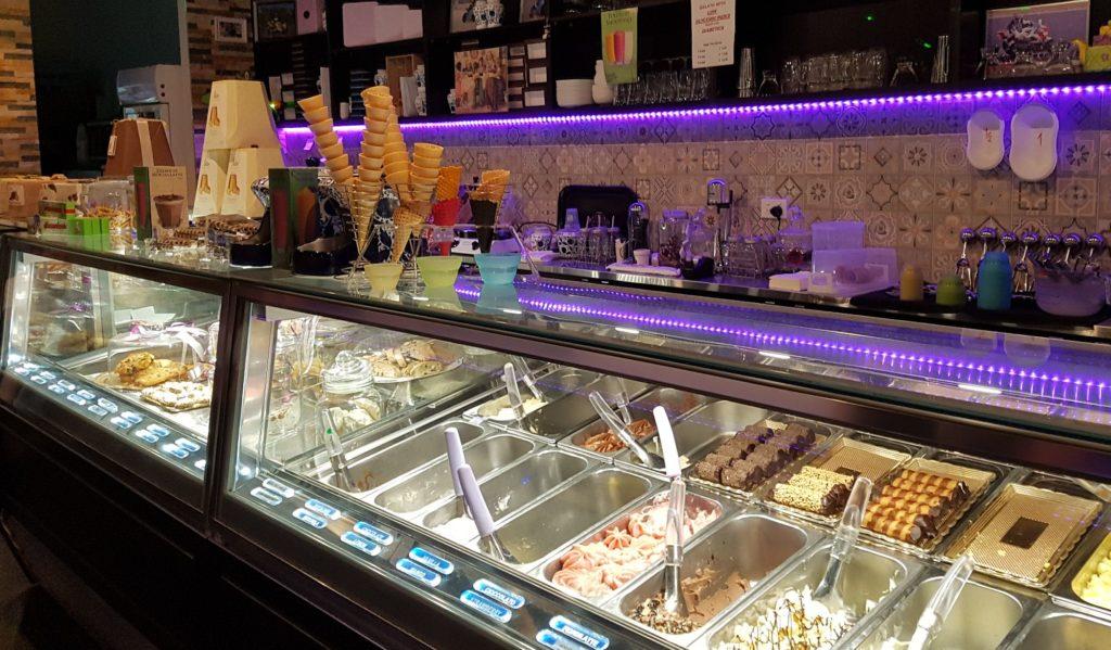 The gelati cabinet at Bononia.