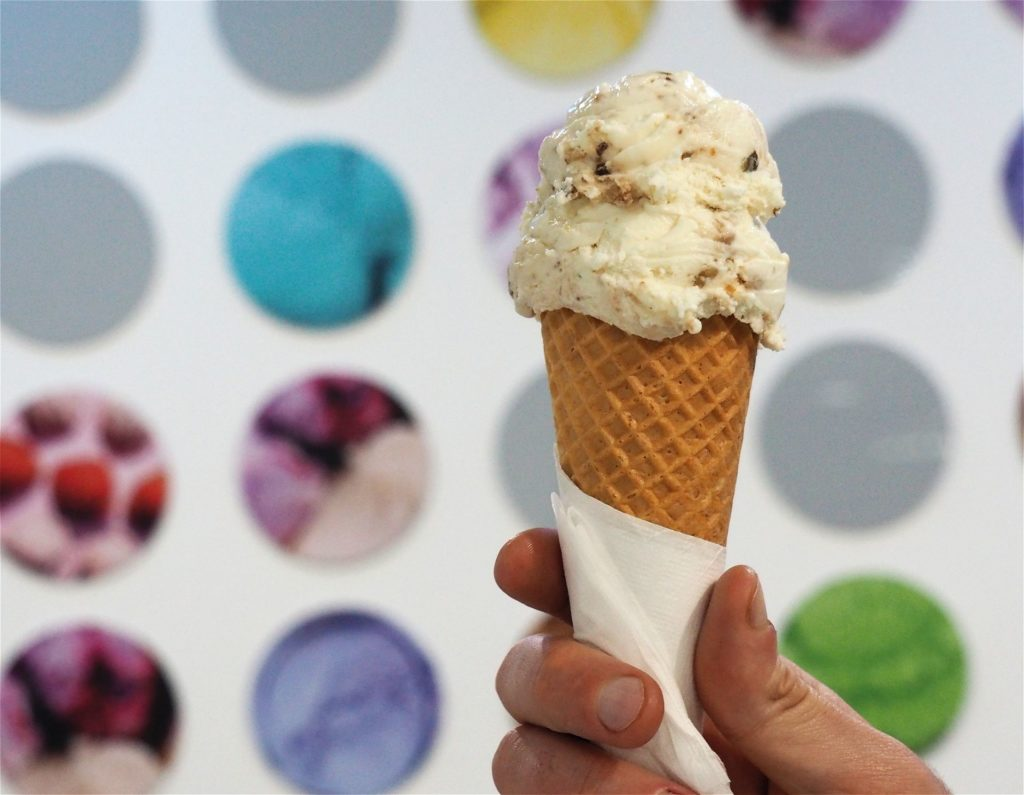 48 Flavours famous award-winning fig, gorgonzola, pear and walnut gelato.