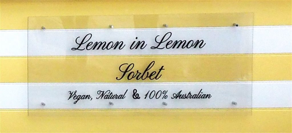Lemon in Lemon Sorbet
