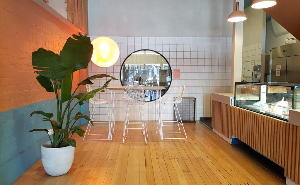 Interior of Happy Eats Gelato.