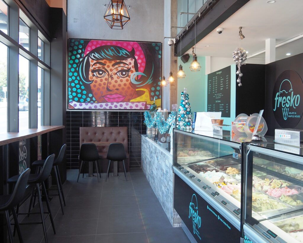 Fresko Gelato & Waffle House interior