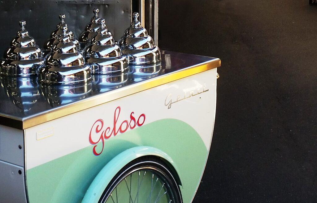 Geloso's gelato cart is in action on weekends in Queen Street.